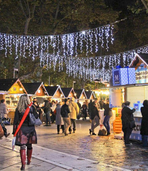 Le marché de Noël de Montpellier