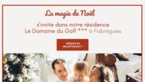 La magie de Noël s'invite au Domaine du Golf ***